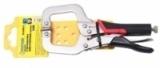 """Зажим гейферный С-образный Partner с прорезиненной рукояткой CR-V 6""""-150мм, на пластиковом держателе"""